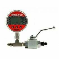 Nitrous Outlet 00-63016 Digital Inline Nitrous Pressure Gauge & Shutoff Valve