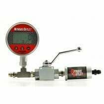 Nitrous Outlet 00-63017 Digital Inline Nitrous Pressure Gauge & Shutoff Valve With Filter