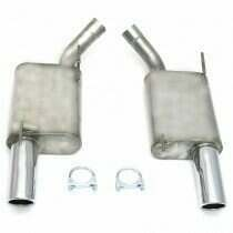 """JBA 05-2010 Mustang 2.5"""" Axleback System with 3.5"""" Rolled Tips"""