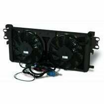 """AFCO Dual Pass Heat Exchanger w/Dual 10"""" Fans (Black Thermal Coat)"""