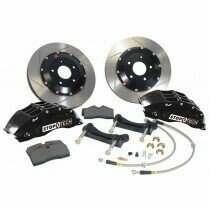 StopTech 07-2014 Mustang 380x32mm Big Brake Kit - Replaces OEM Brembos (Black 6 Piston Caliper - Slotted Rotor)