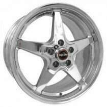 "Race Star Drag Wheel 18"" x 8.5"" - Polished (2013-2014 GT500 & 2015+ GT w/ Standard or Upgraded Brake Pkg)"