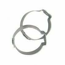 Fragola -8an Stainless Steel Band Clamps (2 Pieces)