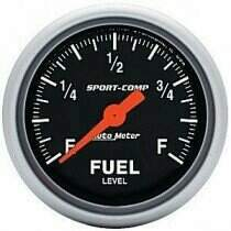 "Autometer Sport Comp 2 1/16"" Programmable Fuel Level Gauge"