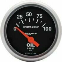 Autometer Sport Comp Electric 0-100 PSI Oil Pressure Gauge