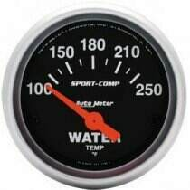 "Autometer Sport Comp 2-1/16"" 100-250deg Electric Water Temp."