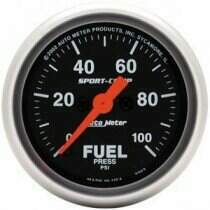 "Autometer Sport Comp Series 2-1/16"" Electric Fuel Pressure Gauge"