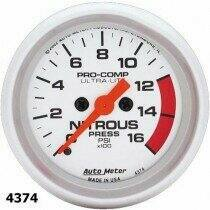 "Autometer Ultra-Lite Series 2 1/16"" 0-1600 PSI Nitrous Pressure"