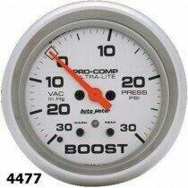 """Autometer Ultra-Lite Series 2 1/16"""" -30/+30 Boost/Vacuum Gauge"""