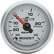 "Autometer Ultra-Lite II Series 2 1/16"" -30/+30 Boost/Vac Gauge"