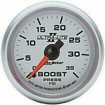 "Autometer Ultra-Lite II Series 2 1/16"" 0-35 PSI Boost Gauge"