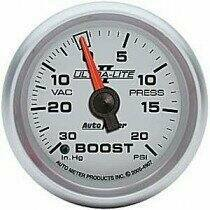 "Autometer Ultra-Lite II Series 2 1/16"" -30/+20 Boost/Vac Gauge"