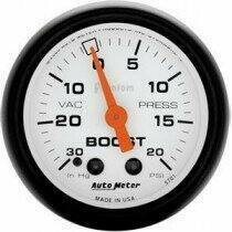 "Autometer Phantom II Series 2 1/16"" 30-/+20 Psi Boost/Vac. Gauge"