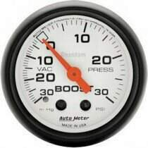 "Autometer Phantom II Series 2 1/16"" 30-/+30 Psi Boost/Vac. Gauge"