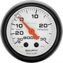 """Autometer Phantom Series 2 1/16"""" 30-/+30 Psi Boost/Vacuum Gauge"""