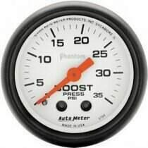 "Autometer Phantom Series 2 1/16"" 0-35 PSI Boost Gauge"