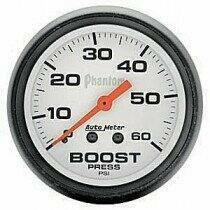 "Autometer Phantom Series 2 1/16"" 0-60 PSI Boost Gauge"
