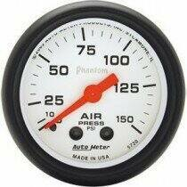 "Autometer Phantom Series 2 1/16"" 0-150 PSI Air Pressure Gauge"