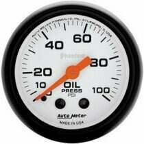 "Autometer Phantom II Series 2 1/16"" 0-100 PSI Oil Pressure Gauge"