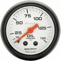 """Autometer Phantom Series 2 1/16"""" 0-150 PSI Oil Pressure Gauge"""