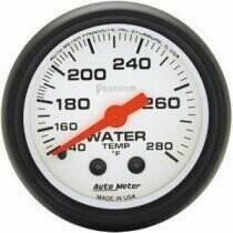 "Autometer Phantom Series 2 1/16"" 140-280 deg Water Temp. Gauge"
