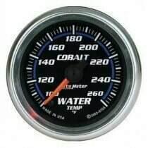 "Autometer Cobalt Series 2-1/16"" Electric Water Temperature Gauge"