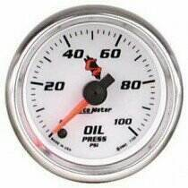 Autometer C2 Series Electric 0-100 PSI Oil Pressure Gauge