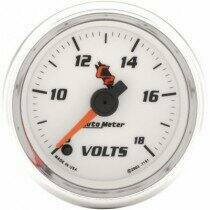 "Autometer C2 Series 2-1/16"" Electric Voltmeter Gauge"