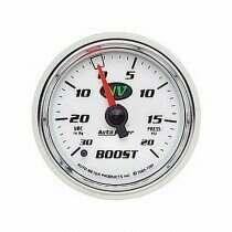 Autometer NV Series 30 In. Hg/20 Psi Boost/Vacuum Gauge