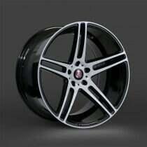 Lenso 05-2014 Mustang 20x9 Axe EX12 Wheel (Gloss Black / White Face)