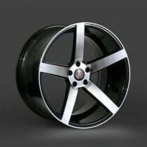 Lenso 05-2014 Mustang 20x10.5 Axe EX18 Wheel (Gloss Black / Brushed Face)