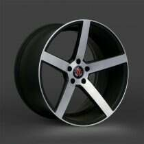 Lenso 05-2014 Mustang 18x8 Axe EX18 Wheel (Gloss Black / Machined Face)