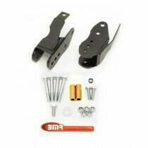 BMR 05-2014 Mustang Bolt-in Lower Control Arm Relocation Brackets (Black Hammertone)