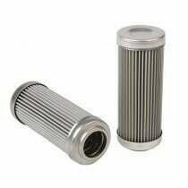 DivisionX 10 Micron Wire Mesh Washable Repleacement Filter Element (E85 and Flex Fuels)