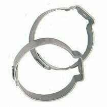 Fragola -12an Stainless Steel Band Clamps (2 Pieces)