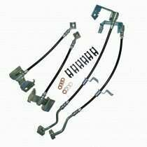 J&M 05-2014 Mustang Stainless Steel PTFE Lined Brake Hose Kit (Front & Rear)