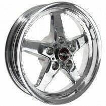 "Race Star Drag Wheel 17"" x 4.5"" - Polished Finish (1979-2014 Mustang, Excludes 2013-2014 GT500, 2015+ Mustang NON Bremo)"