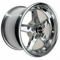 "Race Star Drag Wheel 17"" x 9.5"" - Polished (2005-2014 Mustangs Including GT500's & 2015+ GT w/Standard Brake Package, 2003-2004 SVT Cobra)"