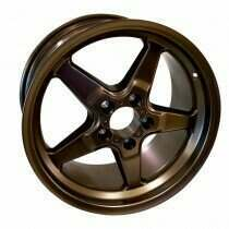 "Race Star 92-705154BZ Drag Wheel 17"" x 10.5"" - Bronze Finish (2005-2014 Mustangs Including GT500's & 2015+ GT w/Performance & Standard Brake Package)"