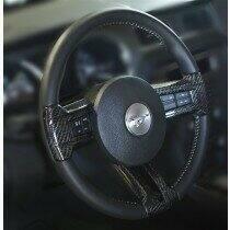 TruCarbon 2010-2014 Mustang Carbon Fiber LG112 Steering Inserts