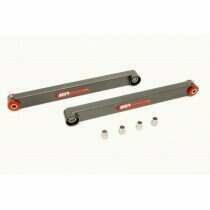 BMR 05-2014 Mustang Non Adjustable Boxed Lower Control Arms with Poly/Spherical Bushing Combo (Black Hammertone)