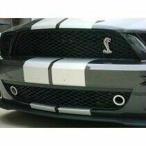 JLT 07-09 Shelby GT500 Lower Grille Bezels (Clear Anodized)